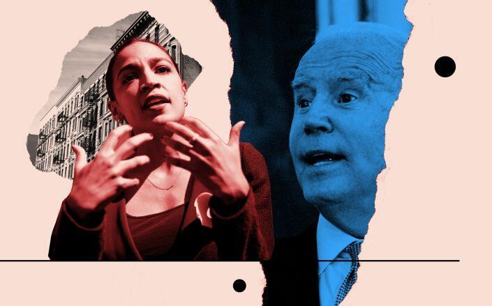 Rep. Alexandria Ocasio-Cortez and President Joe Biden (Getty)