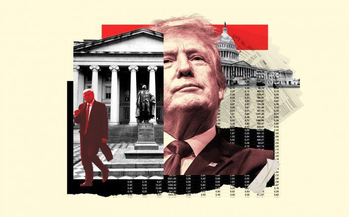 Photo Illustration of Donald Trump (Illustration by Kevin Rebong for The Real Deal)