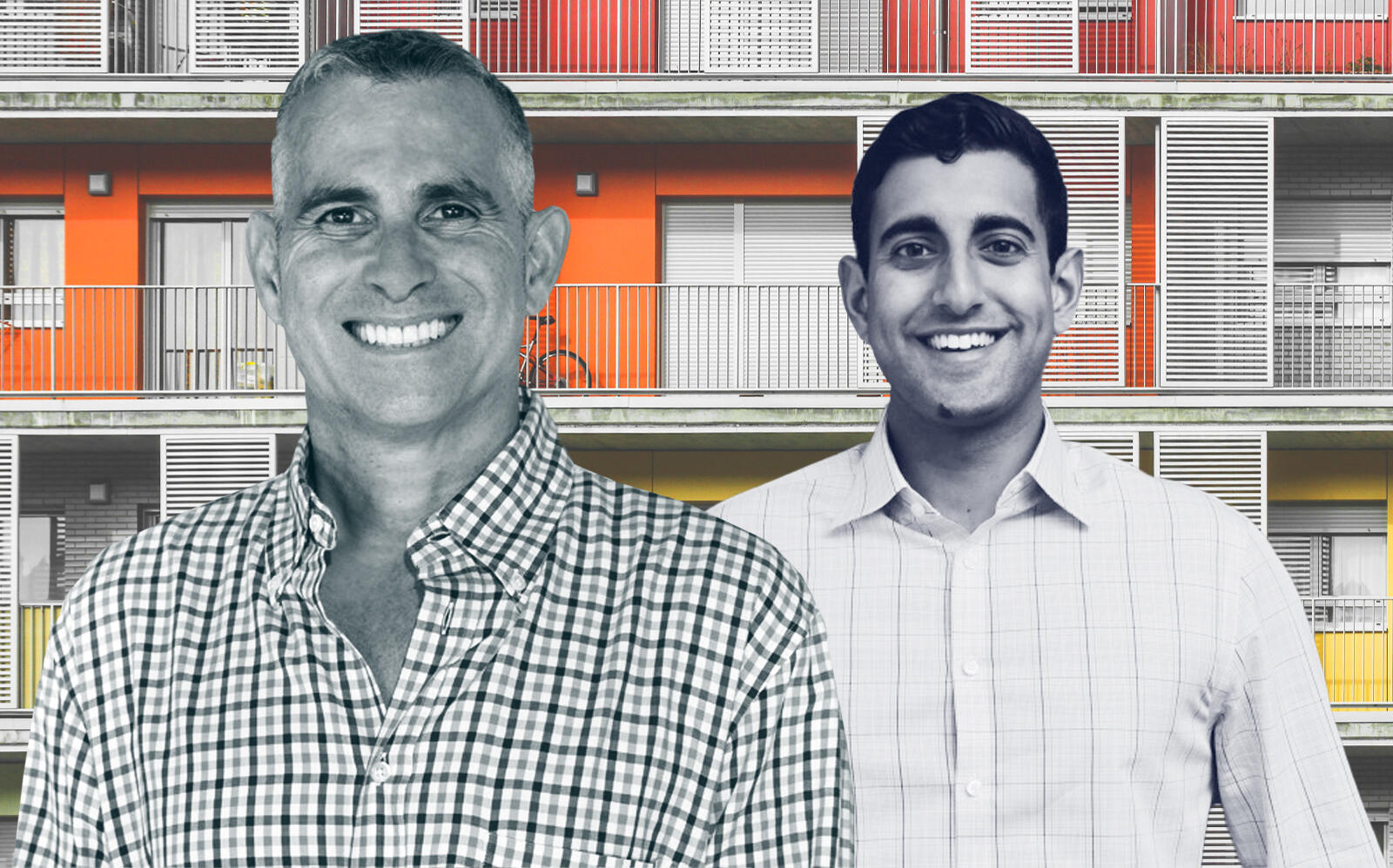 Condos.com founders Richard Swerdlow and Neel Kawale (Getty, Hauskey, Condos.com)
