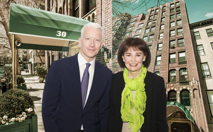 Anderson Cooper is selling the apartment of his late mother Gloria Vanderbilt (Getty, Corcoran)