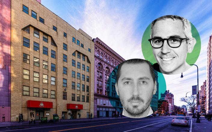 132 West 14th Street and KPG's co-founders Rod Kritsberg and Gregory Kraut (Avison Young, KPG)