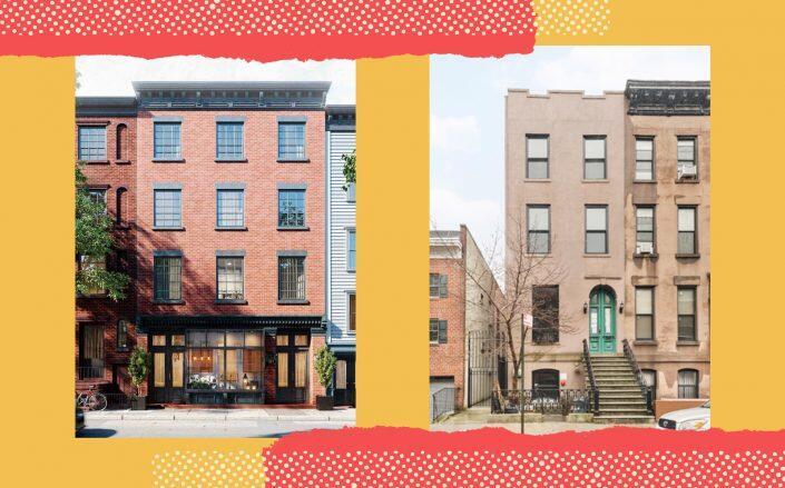 50 Hicks Street and 170 Carroll Street (Photos via Compass, Leslie J. Garfield)