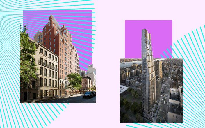 21 East 61st Street and 200 Amsterdam Avenue (Photos via Extell, 200 Amsterdam)