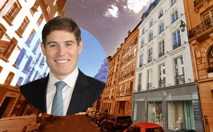 Co-head of Goldman's Europe Tavis Cannell with the Paris building (Google Maps, Goldman Sachs)