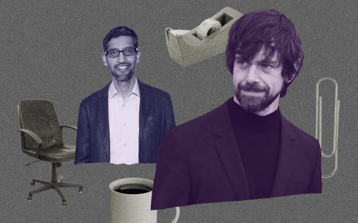 Alphabet CEO Sundar Pichai and Twitter CEO Jack Dorsey (Getty)