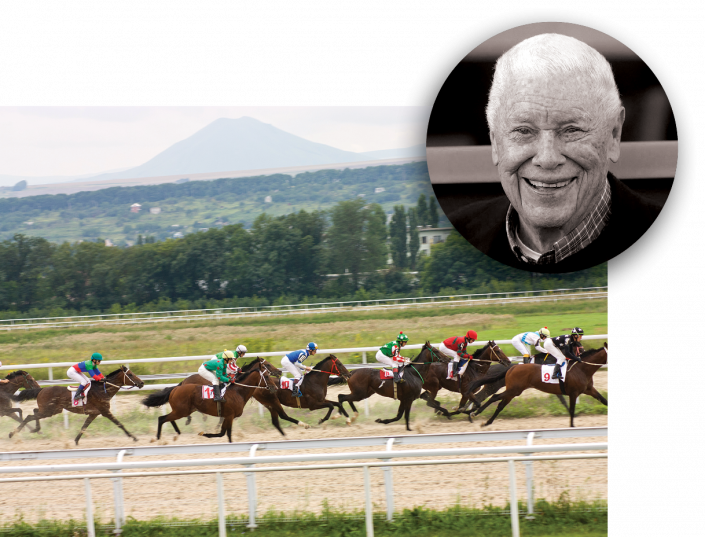 B. Wayne Hughes and a horse race (Getty Images)