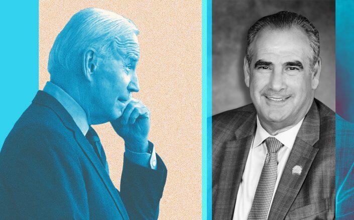 President Joe Biden and NAR president Charlie Oppler (Getty, NAR)