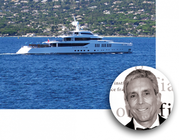 Charles Cohen and his superyacht, Seasense (Getty Images)