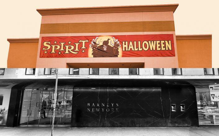 101 Seventh Avenue and a Spirit Halloween store (Google Maps, Getty Images)