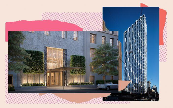 Renderings of 109 East 79th Street and 11 Hoyt Street (Photos via Noë & Associates with The Boundary, Studio Gang)
