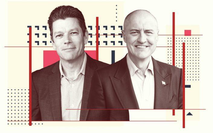 Keller Williams president Marc King and kwx CEO Carl Liebert