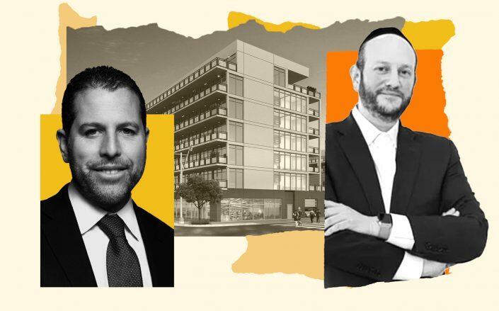 Madison Realty Capital's Josh Zegen, 1580 Nostrand Avenue and Hello Living CEO Eli Karp (Madison Realty Capital, Hello Living)