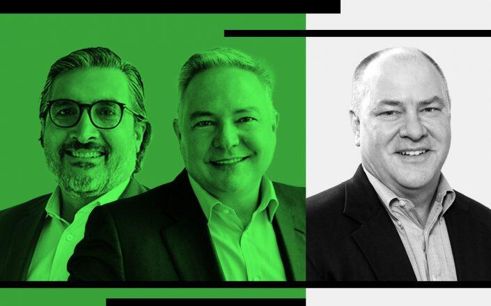 BentallGreenOak Co-CEOs Sonny Kalsi and John Carrafiell and White Oak CEO Michael Menzer (BentallGreenOak, White Oak)