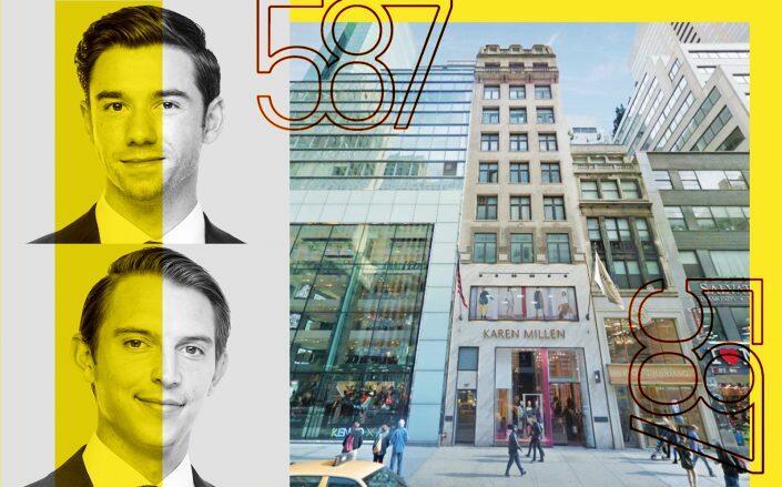 B6 Real Estate Advisors' Zach Redding, Dylan Kane and 587 Fifth Avenue (B6)