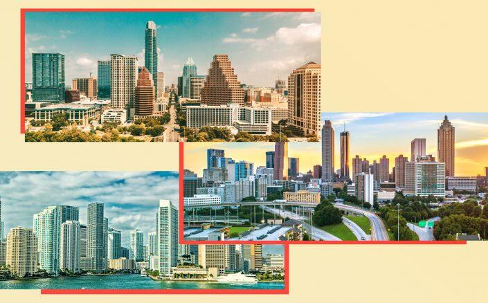 Total investment for the past four quarters in South Florida, Austin and Atlanta increased by 18.7 percent. (iStock)
