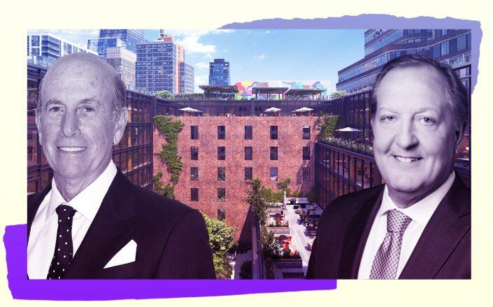 Terminal Warehouse with L&L Holding's David Levinson and Columbia Property Trust's Nelson Mills (Gensler/TMRW, Getty, Columbia Property Trust)
