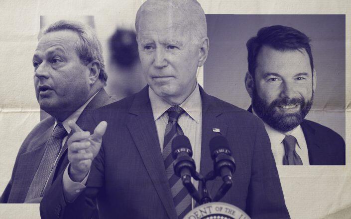 RSA president Joe Strasburg, President Joe Biden and NAA President Bob Pinnegar (Getty, NAA)