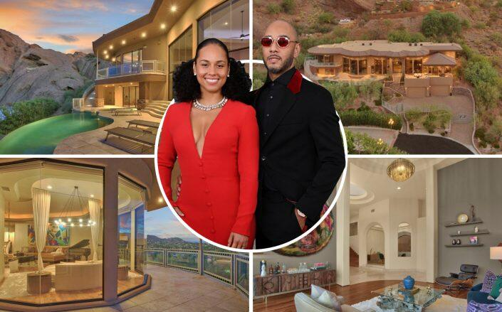 Alicia Keys and Swizz Beatz with the Phoenix property (Getty, The Grigg's Group)