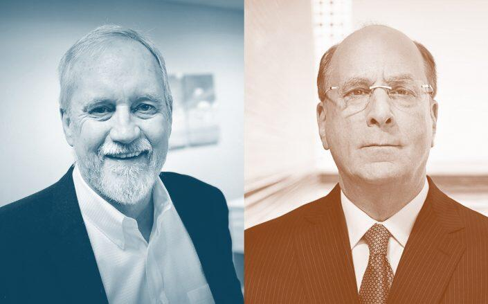 NRS CEO Patrick Pelstring and BlackRock CEO Larry Fink (NRS, BlackRock/Twitter)