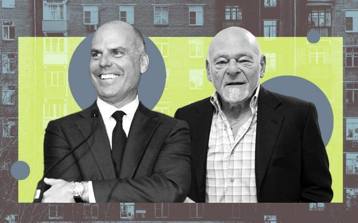 Toll Brothers CEO Doug Yearley and Equity Chairman Sam Zell (Twitter/Toll Brothers, Getty)