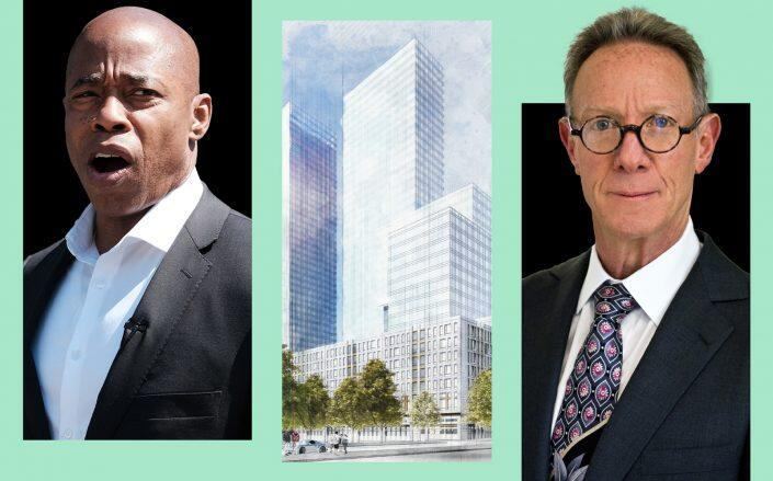 Eric Adams, Continuum's Crown Heights towers and Bruce Eichner (Getty, Continuum)