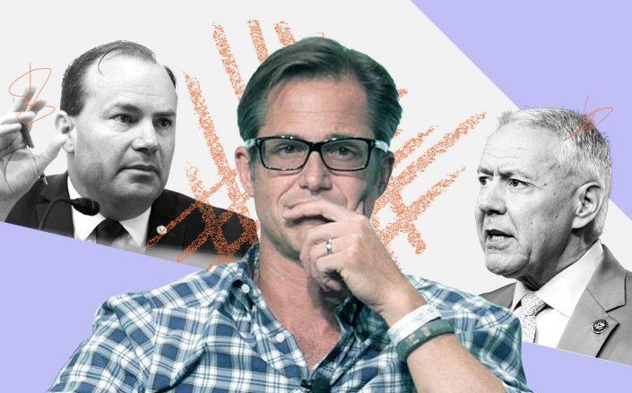 Sen. Mike Lee, Zillow CEO Richard Barton and Sen. Ken Buck (Getty, JD Lasica via Flickr)