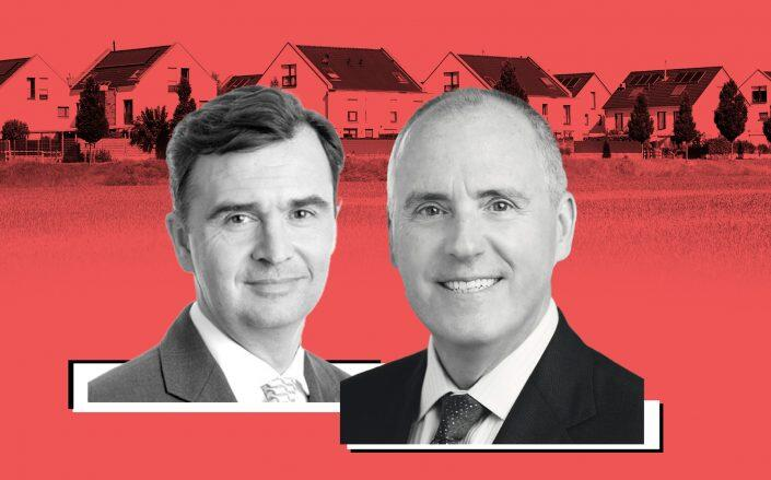 JLL CEO Christian Ulbrich and JLL Income Property Trust CEO C. Allan Swaringen (JLL, iStock)