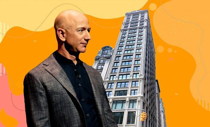 Jeff Bezos and 212 Fifth Avenue (Daniel Oberhaus/Flickr, Google Maps)