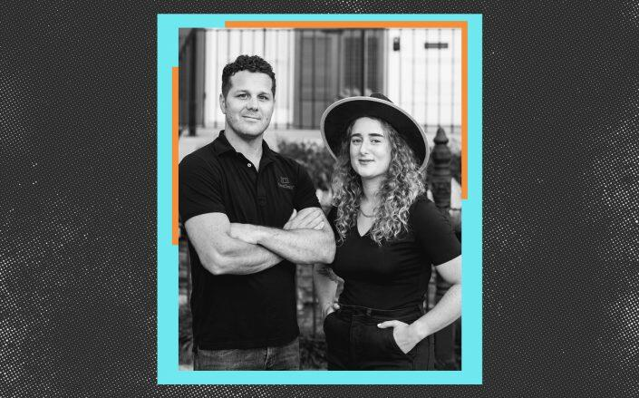 RentCheck co-founders Marco Nelson and Lydia Winkler (Photo via RentCheck)