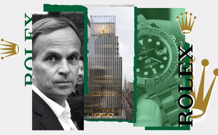 Rolex CEO Jean-Frederic Dufour and 665 Fifth Avenue (Getty, David Chipperfield Architects)