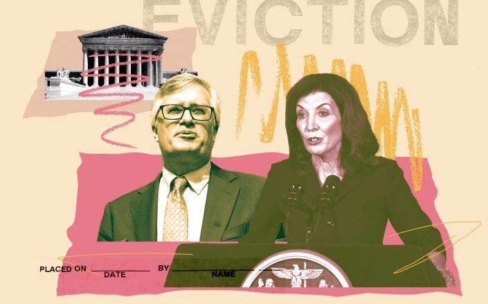 Senator Brian Kavanagh and Lt. Gov. Kathy Hochul (Getty, iStock)