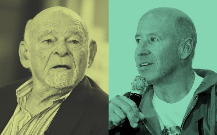Equity Founder Sam Zell and Starwood CEO Barry Sternlicht (Getty)