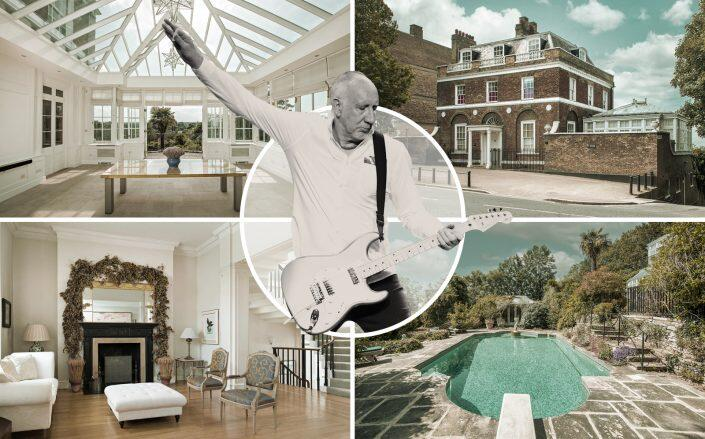 Pete Townshend and the London mansion (Getty, Pereds)