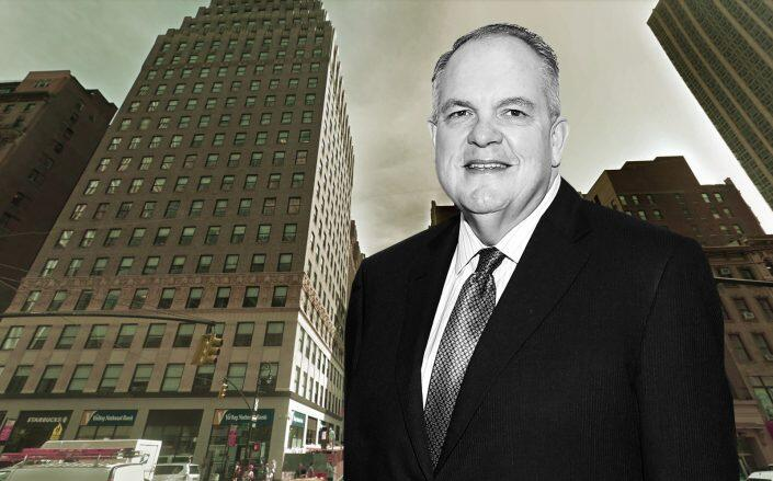 State Street CEO Ronald P. O'Hanley with 1040 Avenue of the Americas (Getty, Google Maps)