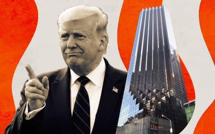 Donald Trump and Trump Tower at 725 5th Avenue (Getty, Jorge Láscar/Wikimedia)