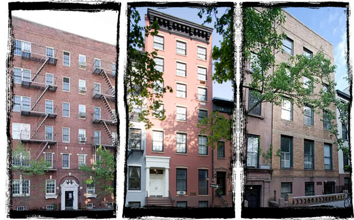 From left: 89 Hicks Street, 18 Sidney Place and 144 Willow Street (StreetEasy)