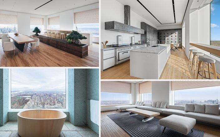 Art collectors' Sugimoto-curated 432 Park penthouse listed for $135M