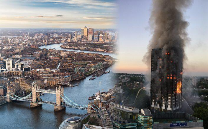 London fire officials say over 1K buildings unsafe in a fire