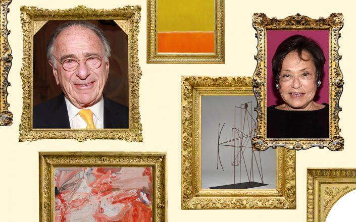 Macklowe Properties CEO Harry Macklowe and Linda Macklowe with pieces of their art collection (Sotheby's, iStock, Getty)