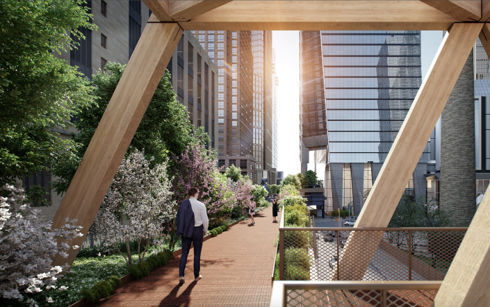 Renderings of the proposed extension of Manhattan's High Line