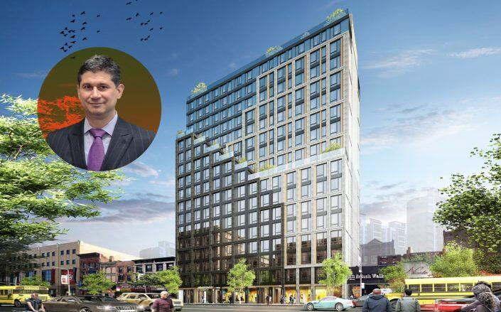 HUBBNYC managing director Jesse Terry and 56 West 125th Street (J Frankl Architects)