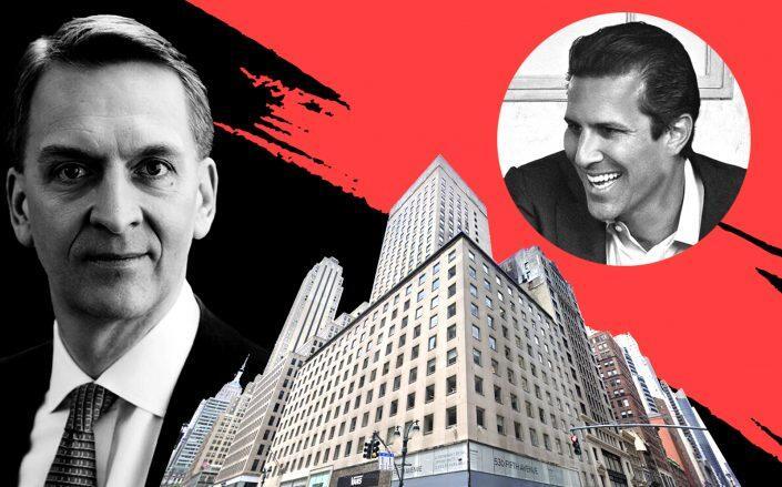 Brookfield's Bruce Flatt, Aurora Capital Associates' Bobby Cayre and 530 Fifth Avenue (Google Maps)