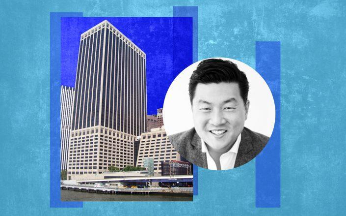 55 Water Street and DailyPay CEO Jason Lee (Beyond My Ken/Wikimedia, LinkedIn)