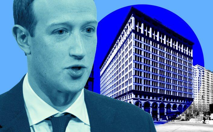 Facebook CEO Mark Zuckerberg and 770 Broadway (Getty, VNO)
