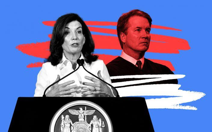 Gov. Kathy Hochul and Associate Justice of the Supreme Court Brett Kavanaugh (Getty)