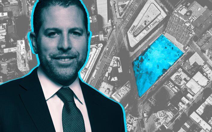 Madison Realty Capital's Josh Zegen and 625 Fulton Street in Brooklyn (MRC, Google Maps)