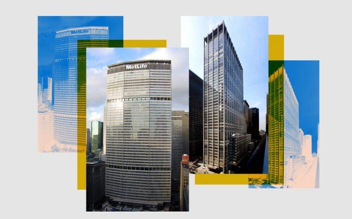 200 Park Avenue and 1301 Sixth Avenue (Postdlf/Wikimedia, Paramount Group)