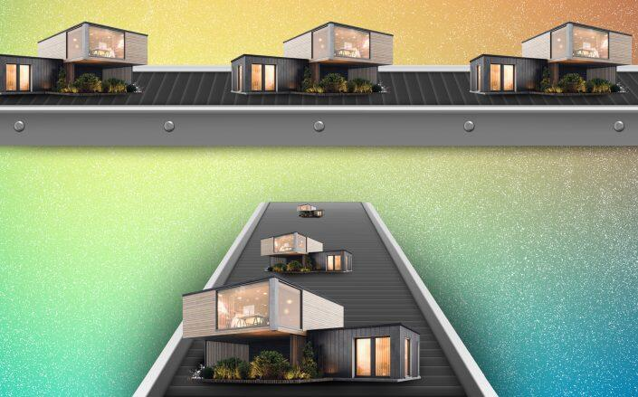 Quick turnaround times have luxury buyers considering modular as an alternative to traditional construction for grandiose homes. (iStock)