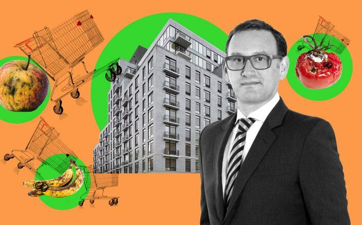 HAP Investment Developers CEO Eran Polack with 2211 Third Avenue (HAP, StreetEasy)
