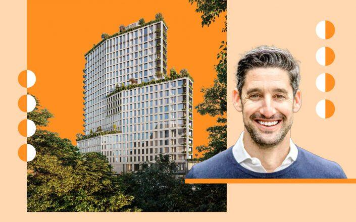 1 Boerum Place in Brooklyn and Avery Hall founding partner Avi Fisher (Avery Hall)